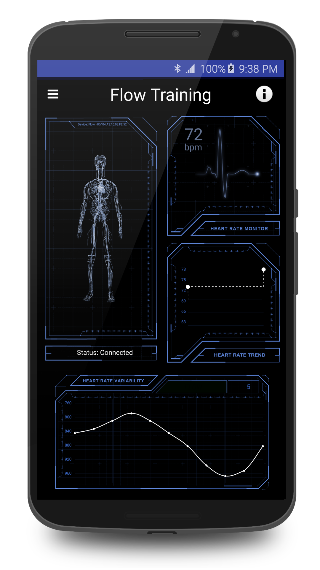 Flow Android biofeedback app