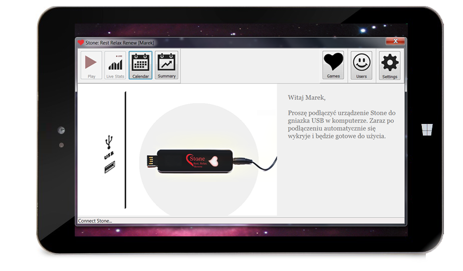 Biofeedback for Tablet